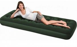 Надувной матрас Flocked Air Bed (Single), арт.67446 BW