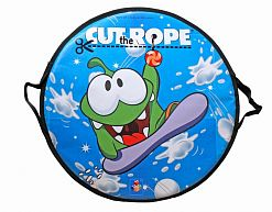 "Ледянка-сэндвич ""Cut the Rope"" 52х1см круглая, арт.Т58163"